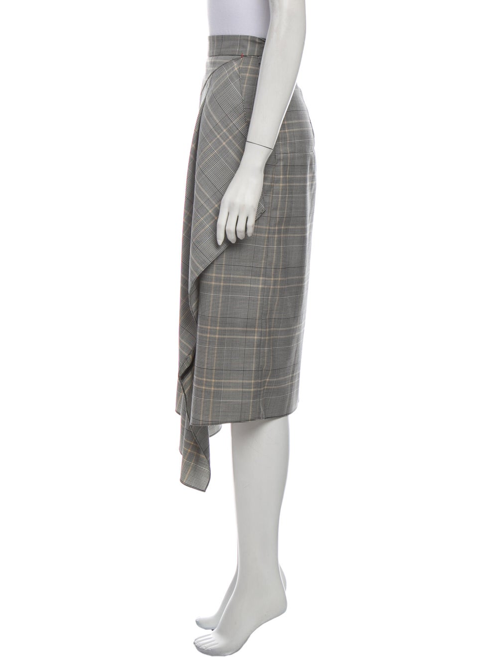 Tibi Plaid Print Midi Length Skirt - image 2