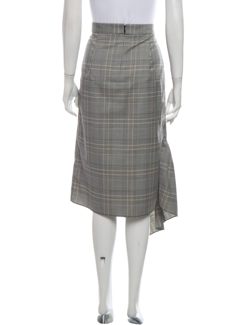 Tibi Plaid Print Midi Length Skirt - image 3