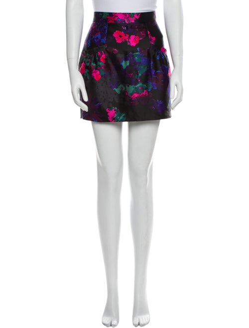 Tibi Silk Midi Length Skirt Black - image 1