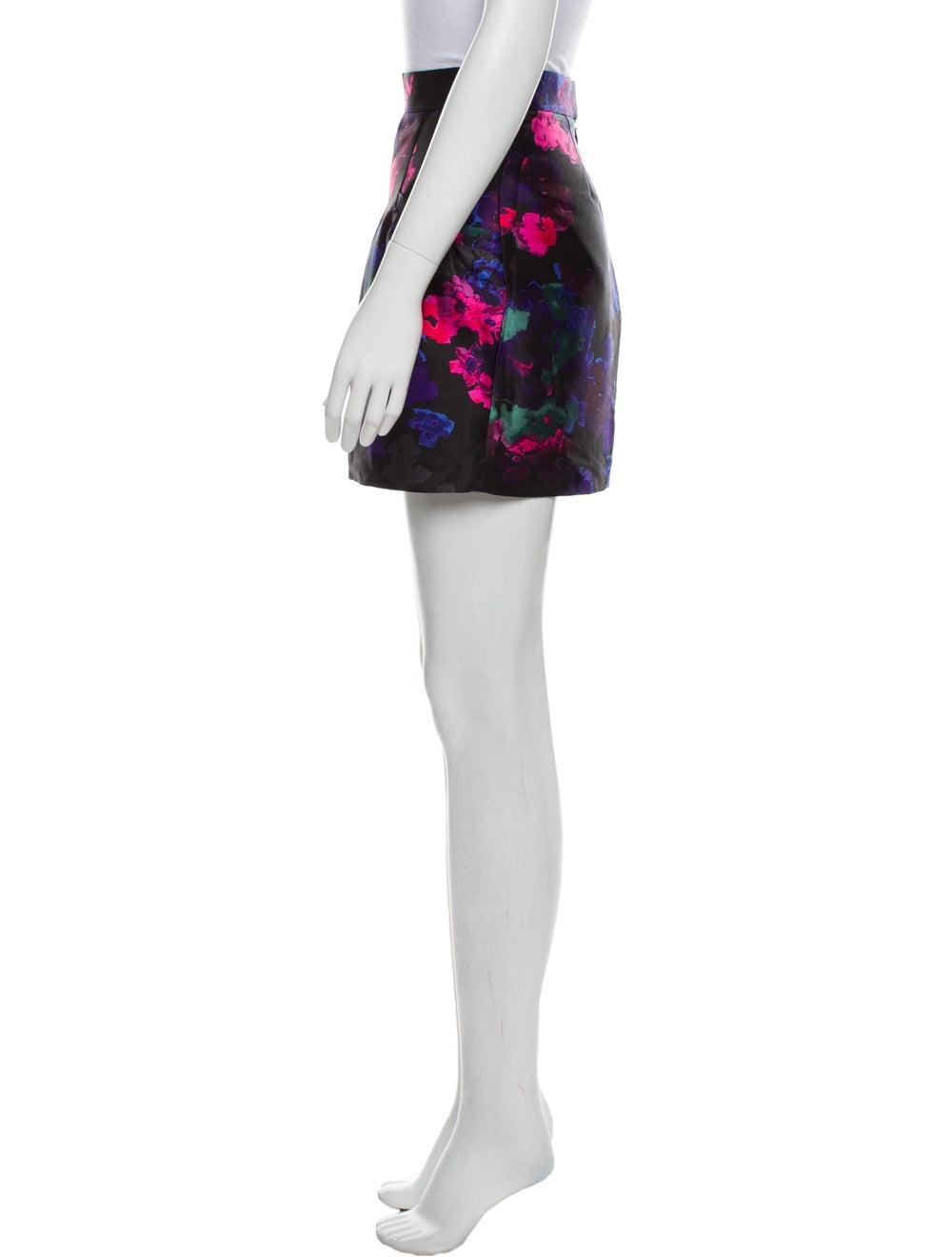 Tibi Silk Midi Length Skirt Black - image 2