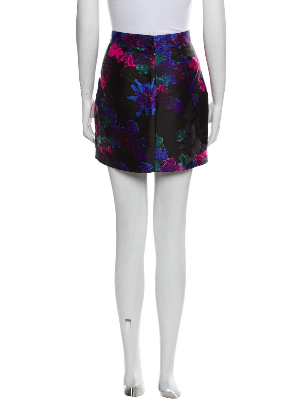 Tibi Silk Midi Length Skirt Black - image 3