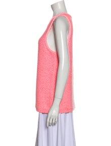 Tibi Scoop Neck Sweater