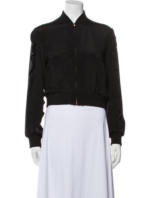 Tibi Silk Bomber Jacket Black