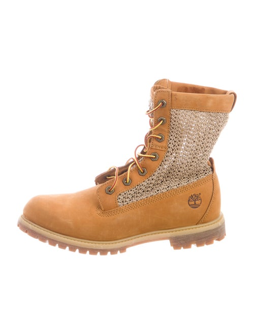 Timberland Suede Combat Boots Brown