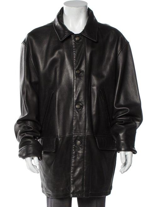 Timberland Leather Jacket Black