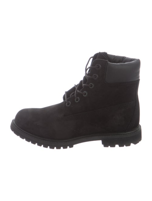 Timberland Suede Printed Combat Boots Black