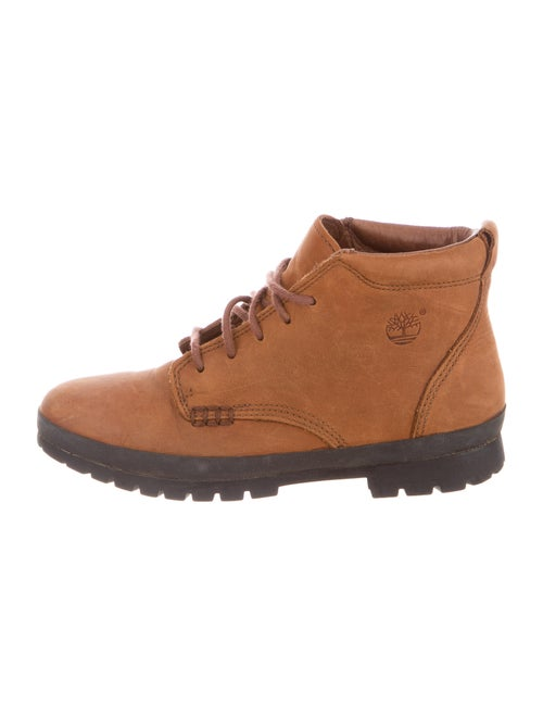 Timberland Leather Lace-Up Boots Brown