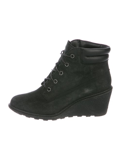 Timberland Leather Lace-Up Boots Black