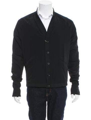Tim Hamilton Rib Knit-Trimmed Button-Up Cardigan w/ Tags None