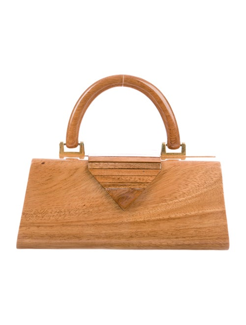 Timmy Woods Wooden Handle Bag Brown