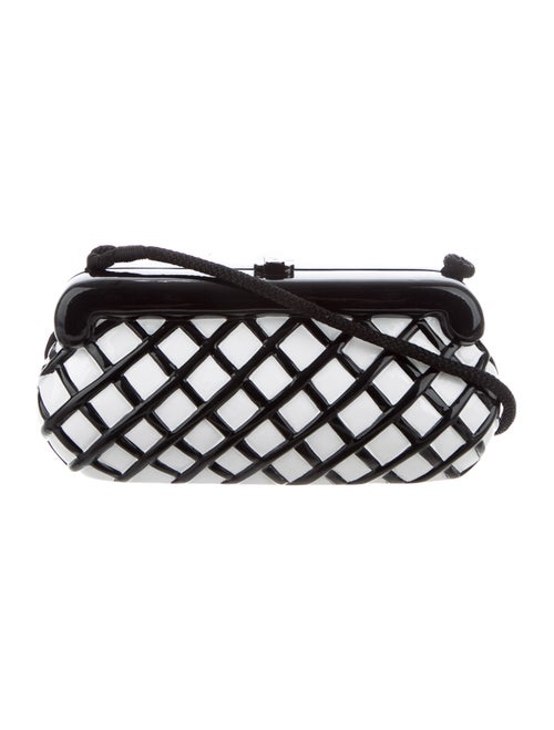 Timmy Woods Carved Wooden Clutch Black