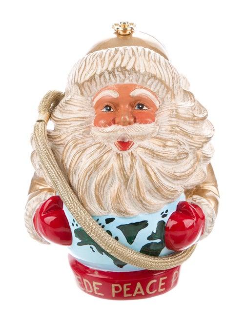 Timmy Woods Wooden Santa Minudière Gold