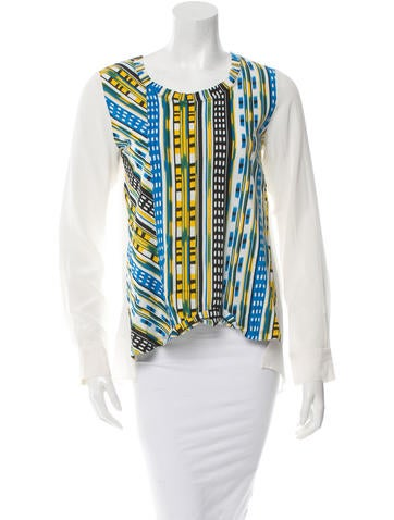Thakoon Addition Printed Crew Neck Top w/ Tags None