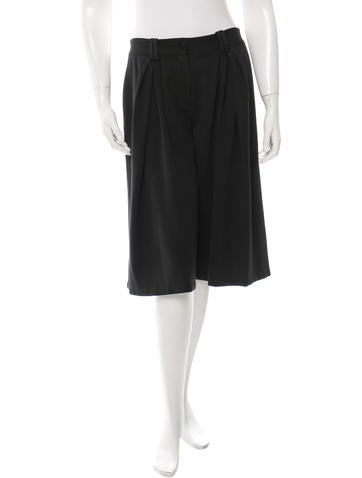Thakoon Addition Black Pleated-Accented Culottes None