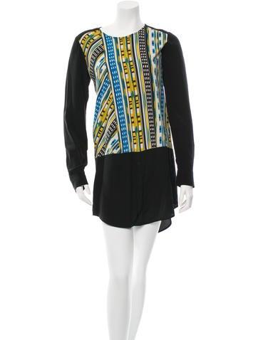 Thakoon Addition Mini Long Sleeve Dress None