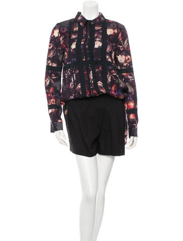 Thakoon Addition Printed Long Sleeve Romper None