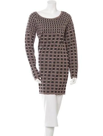 Thakoon Addition Geometric Pattern Sweater Dress w/ Tags None