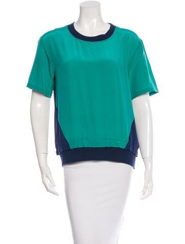 Thakoon Addition Color Block Silk Top None