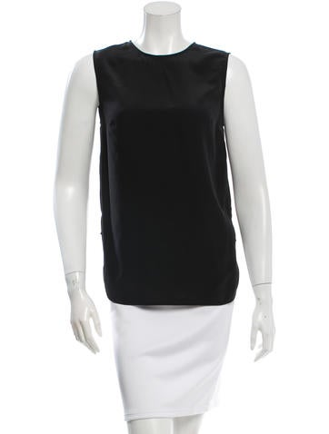 Thakoon Addition Silk Sleeveless Top