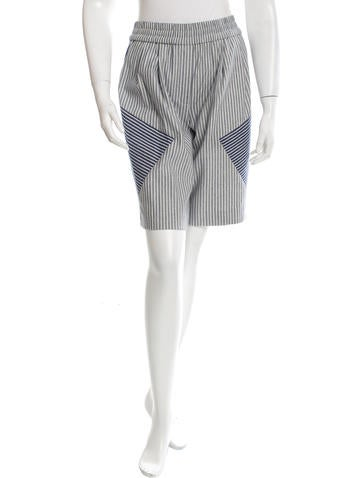 Thakoon Addition Striped knee-Length Short