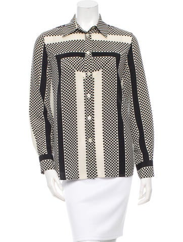 Thakoon Addition Printed Silk Button-Up Top None