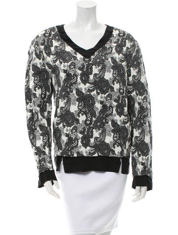 Thakoon Addition Floral Jacquard Top None