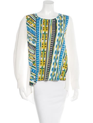 Thakoon Addition Printed Long Sleeve Top None