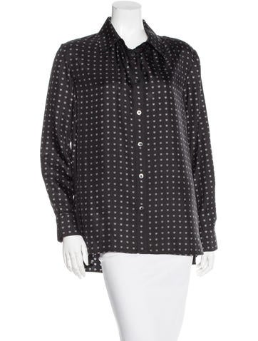 Thakoon Addition Heart Print Button-Up Top None