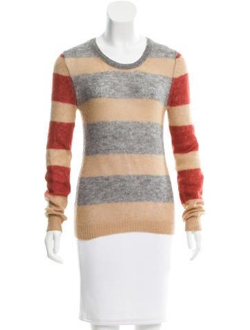 Thakoon Addition Striped Rib Knit Sweater None