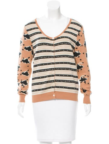 Thakoon Addition Patterned Rib Knit Cardigan None