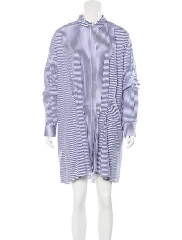 Thakoon Addition Striped Shirt Dress None