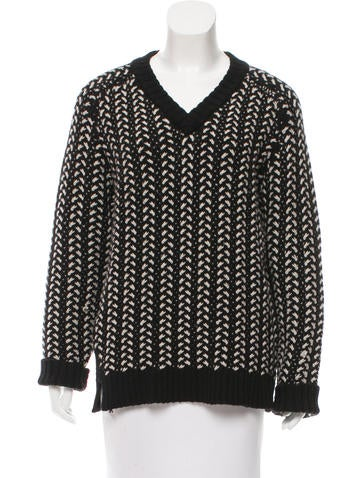Thakoon Addition Wool V-Neck Sweater None