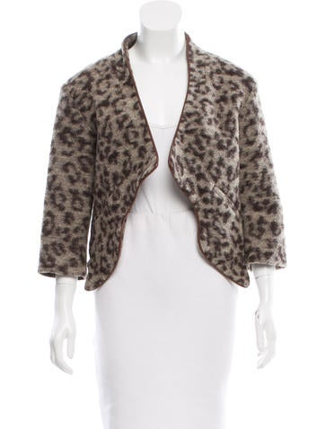 Thakoon Addition Wool-Blend Leopard Print Jacket None