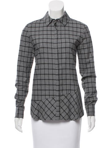 Thakoon Addition Plaid Button-Up Top None
