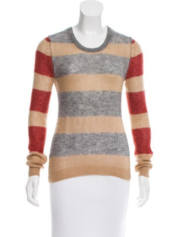 Thakoon Addition Striped Rib Knit Sweater None