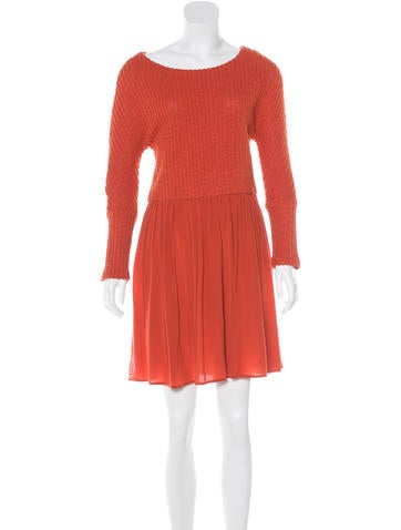 Thakoon Addition Long Sleeve Pleated Dress l None