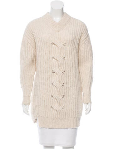 Thakoon Addition Rib Knit V-Neck Sweater None