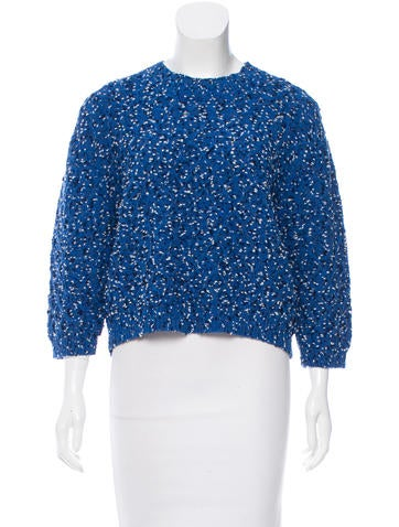 Thakoon Addition Long Sleeve Textured Sweater