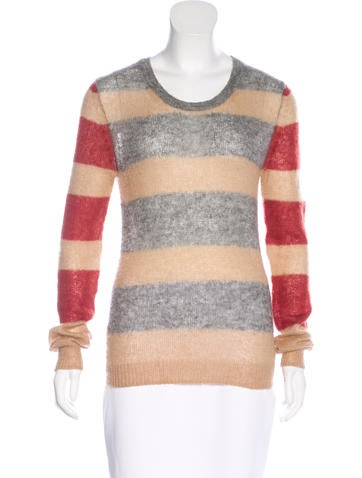 Thakoon Addition Striped Long Sleeve Sweater None
