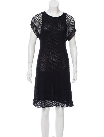 Thakoon Addition Open Knit Linen Dress None