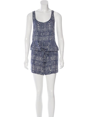 Thakoon Addition Sleeveless Printed Romper None