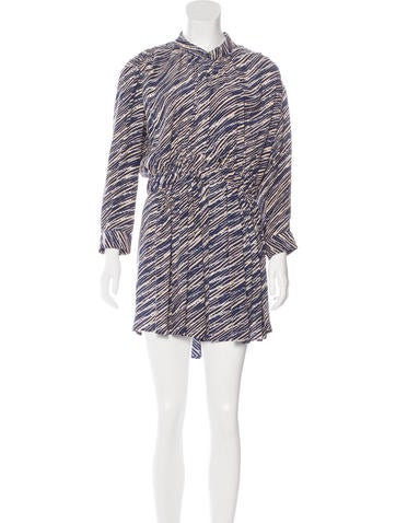 Thakoon Addition Striped Silk Dress None