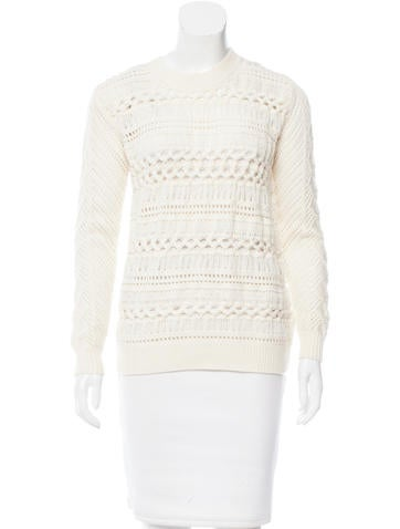 Thakoon Addition Wool Crochet Pullover w/ Tags None