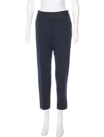 Thakoon Addition Mid-Rise Polka Dot Pants None