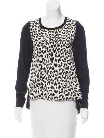 Thakoon Addition Leopard Print Silk Top None