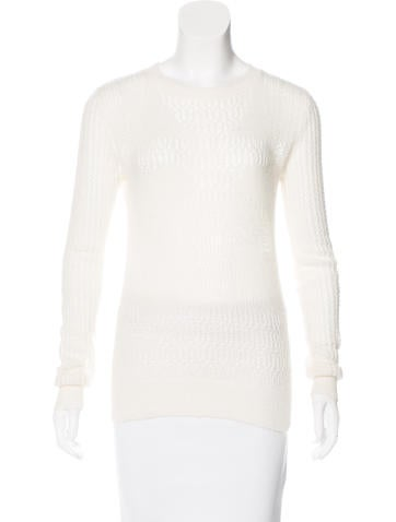 Thakoon Addition Wide Knit Long Sleeve Sweater None