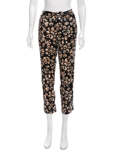 Thakoon Addition Silk Mid-Rise Pants None