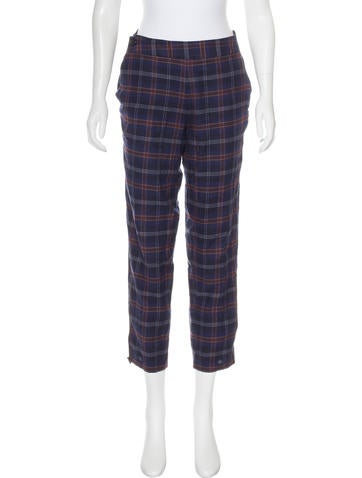 Thakoon Addition Mid-Rise Plaid Pants None