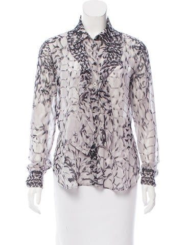 Thakoon Addition Printed Button-Up Top None
