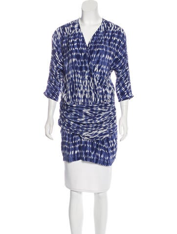 Thakoon Addition Silk Tie-Dye Tunic w/ Tags None